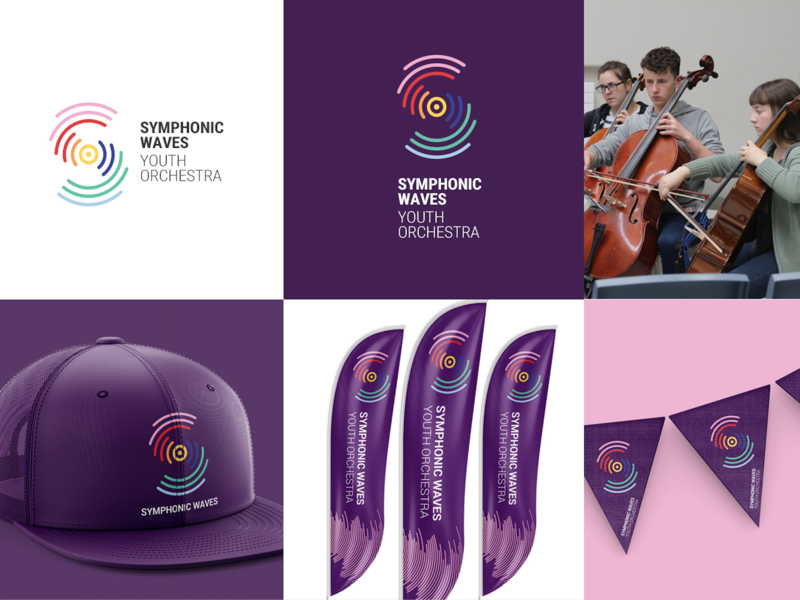 Symphonic Waves Youth Orchestra logo branding