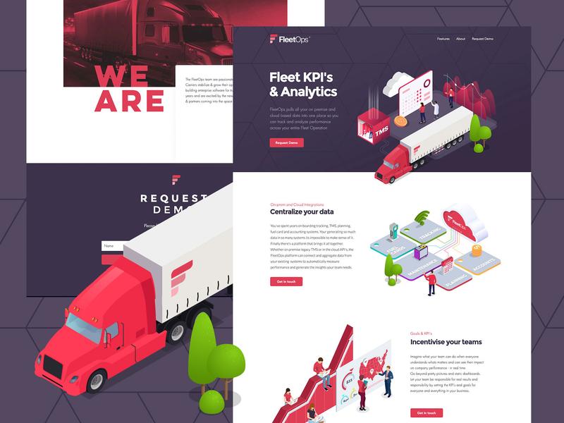 FleetOps Website Design illustration logo branding webdesign