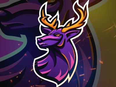 Deer Esport Team Mascot Logo