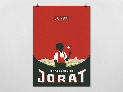 "Poster ""La Nati 2020"" - Brasserie du Jorat poster illustration graphicdesign brasserie du jorat branding beer"