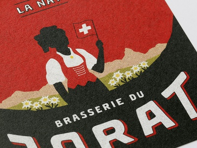 "Label ""La Nati 2020"" - Brasserie du Jorat label brasserie du jorat beer illustration branding art direction graphic design"