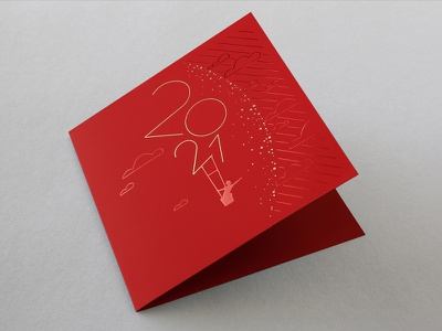 Greeting card 2021 - AM Studio illustration art direction graphic design