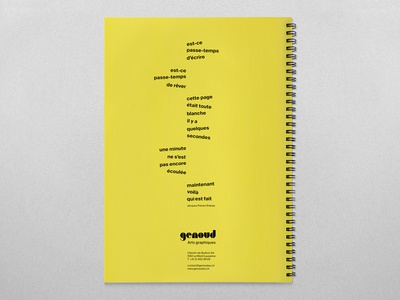 Notepad 2020 - Genoud Arts Graphiques hotstamping notepad graphic design illustration art direction