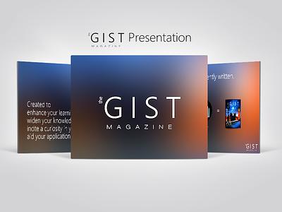 theGIST magazine presentation presentation promo issue 1 magazine gist thegist