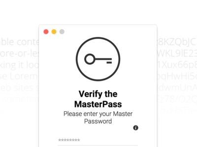 Verify the MasterPass