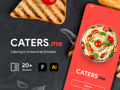 Caters.me App UI (iOS) application iphone app caters interface eat cook catering uae figma food ios ui