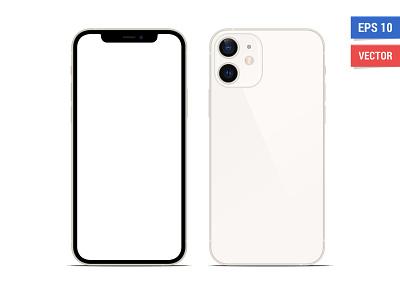 Mock-up Apple iPhone 12 Mini vector isolated blank interfacedesign phone smartphone mockup mim 12 iphone apple interface ios ui design