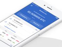 BitStore.net App UI (iOS)