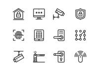 36 Security and Protection Simple Vector Icons Set
