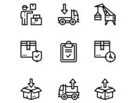 Delivery, Shipment, Cargo Icons