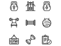 Workout, Fitness, Gym Icons Set 4