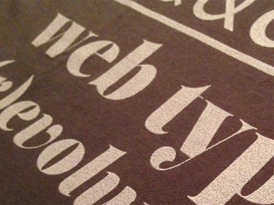 2nd shot - new type t in the works web fonts typography web design