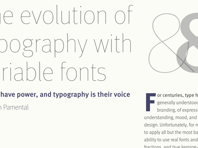 Variable font demo with FF Meta typography web