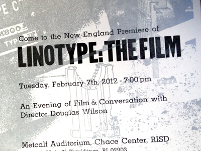 Linotype Film Poster typography linotype letterpesss poster