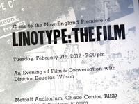 Linotype Film Poster