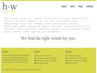 h+w design home page