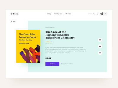 Book: Product page bookstore product page audiobook application education overview e-learning website site courses education platform web application product design saas platform edtech