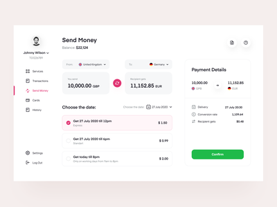 Paymee: Send Payments banking fintech finances web design user interface transaction design system services payments transfer finance product design web app saas
