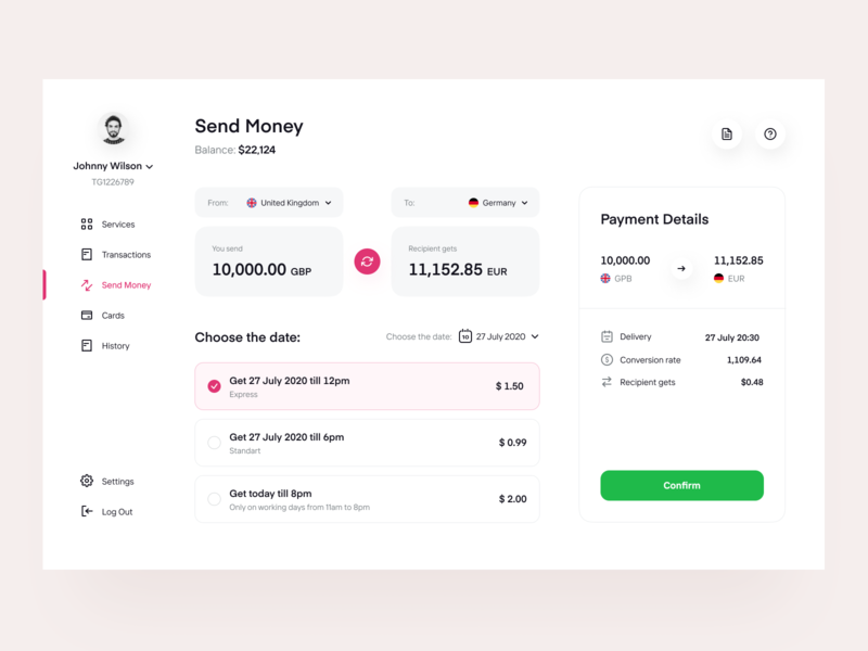 Paymee: Send Payments fintech finances web design user interface transaction design system services payments transfer finance product design web app saas