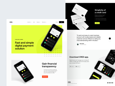 CRED: Landing page exploration creditcard fintech app product page marketing page landing page product design identity design payments credit card finance app fintech finance