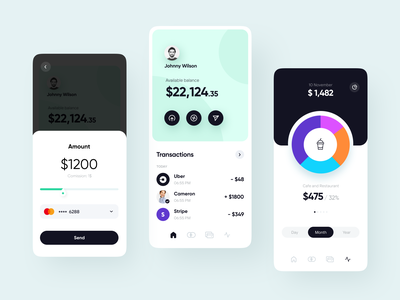 Fastpay app: exploration fintech finance app mobile app design design system identity transactions branding app ui product design payments finance
