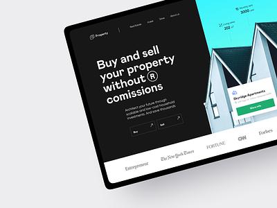 Property: web + mobile website property management apartment real estate product design rental property branding hero image landing page app architecture property