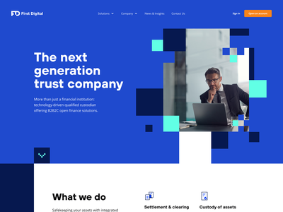 First Digital: Main page ui  ux b2c b2b homepage design product page identity design landing page fintech web finance