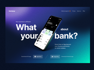 Quickpay: Hero exploration main web branding landing page payments product design fintech finance