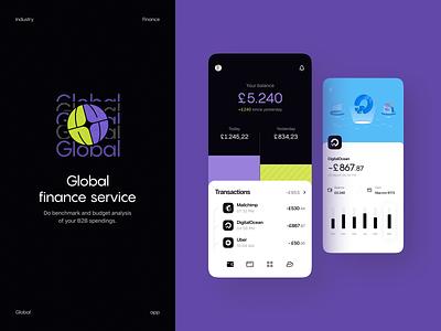 Global: Finance app illustration design system app ios transactions branding dashboard ui payments product design fintech finance