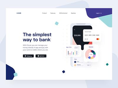 Neobank: Hero section ui payments product hero image web finance banking app landing page