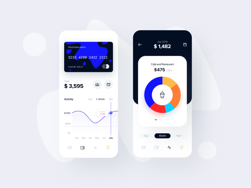Banking App: Account, Statistics by Vadim Drut for Heartbeat