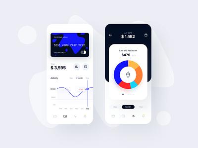Banking App: Account, Statistics payments app ios budget interface account bank statistics finance fintech ux ui