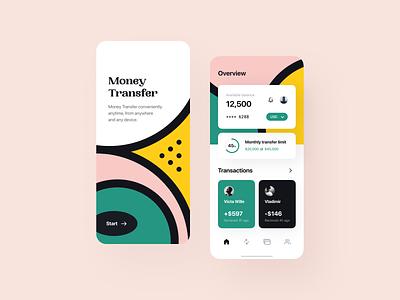 Warm money transfer app lend lending saas dashboard transactions finance product design services balance transfer fintech overview cash financial app product service payments uiux