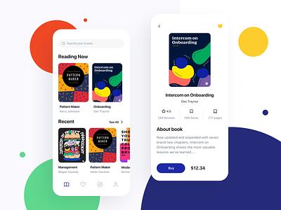 Reading App design branding app main ux product startups books payments ui