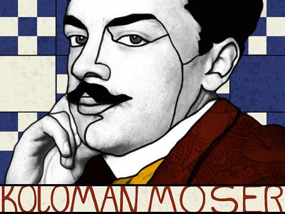 Tribute to Koloman Moser graphicdesign illustration tribute wienerwerkstatte kolomanmoser viennasecession
