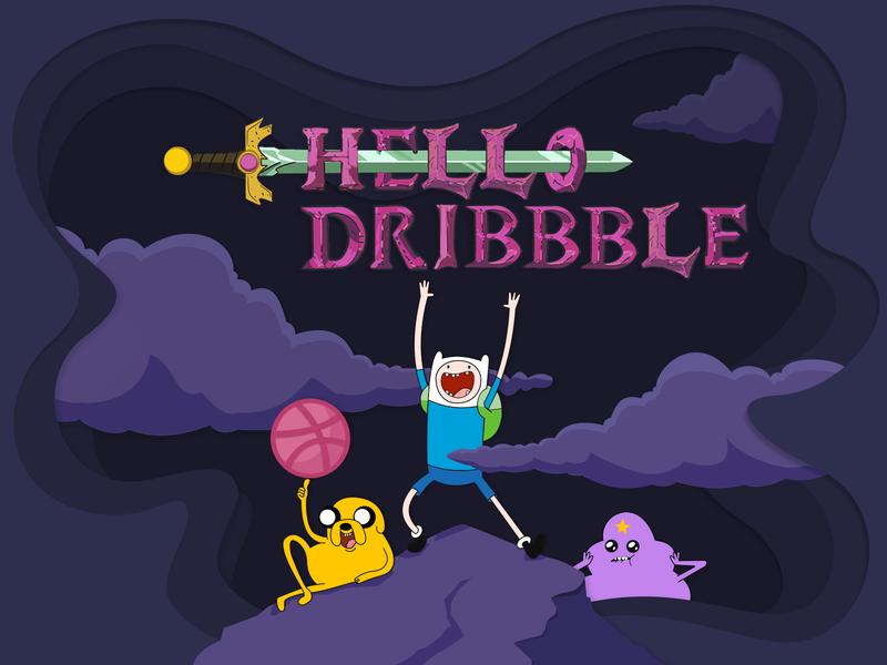 Hello Dribble design first shot illustration