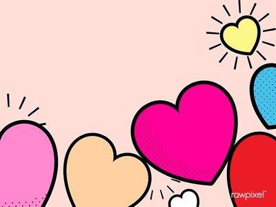 Pop heart background design vector