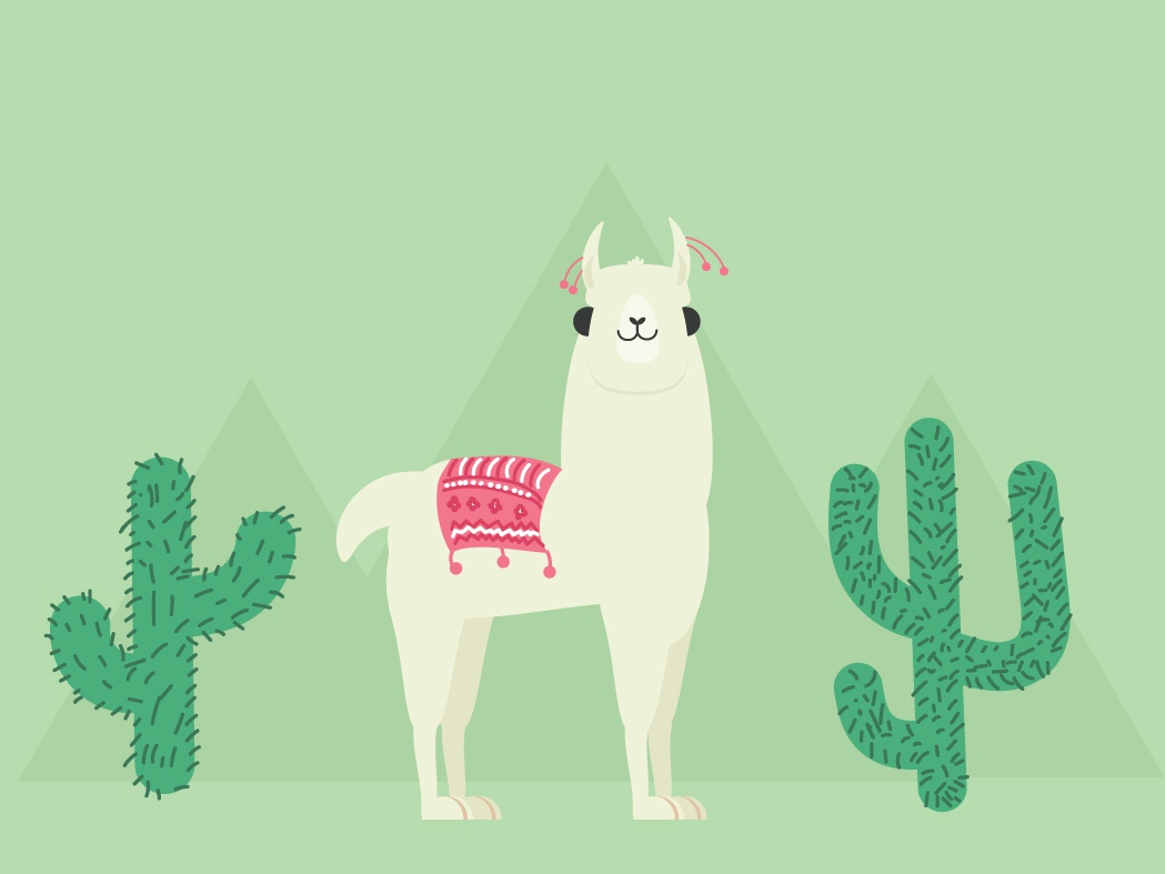 Llama vector design illustration