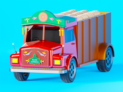 Bijak Express | Logistics vector video cinema 4d blender 3d animation motion graphics logo ui motion animation 3d illustration 3d solution product ux graphic design branding illustration design art