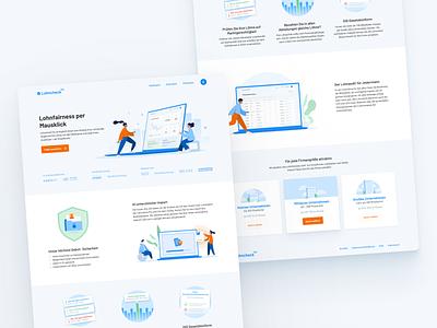 Lohncheck Pro Landingpage ui web branding illustration flat minimal design website landingpage