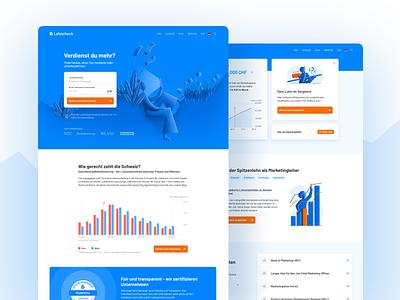 Lohncheck UI minimal logo illustration art branding app web illustration flat ui website