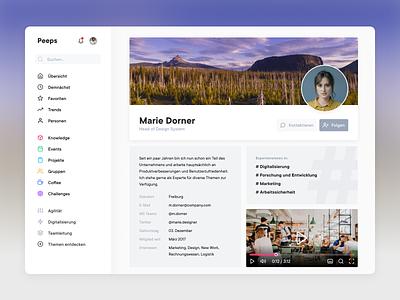 Profile Page web branding app design website flat ui minimal video follow user profile page profile