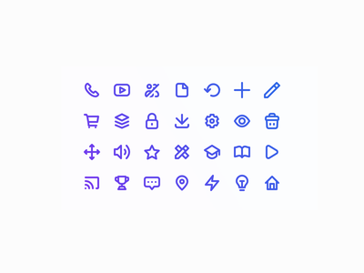 Iconset for Haufe eAcademy