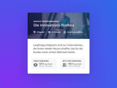Course Overview for Haufe eAcademy design website web interface teaser overview tile ux ui minimal