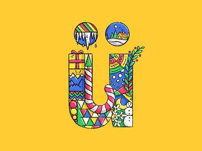 Holiday Greetings typography logo holiday christmas lettering letter illustration art illustration