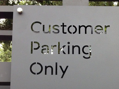 BSS Parking Sign minimal type sign metal