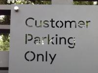 BSS Parking Sign