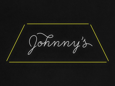 Johnny's Gold Brick bar neon typography icon logo identity minimal