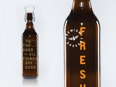 Premium packaging growler slogan vintage minimal type beer