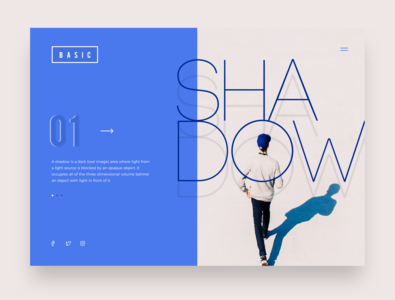 Webpage - Shadow uiuxdesigner interface design uidesign soft ui appdesign app typogaphy responsive design website concept website design shadow flatdesign webpage webdesign web
